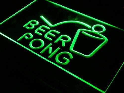Beer Pong Neon Sign (LED)-Way Up Gifts