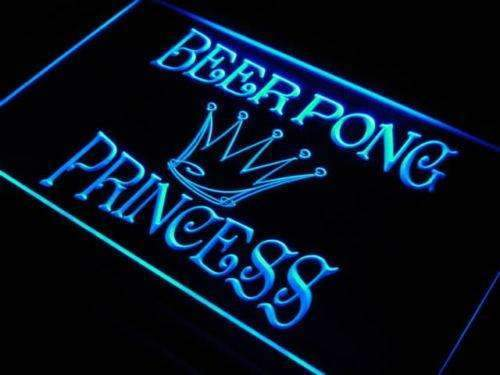 Beer Pong Princess LED Neon Light Sign - Way Up Gifts
