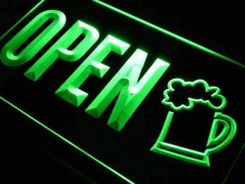 Beer Pub Bar Open Neon Sign (LED)