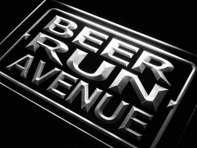 Beer Run Avenue LED Neon Light Sign - Way Up Gifts