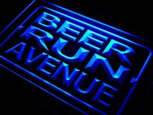 Beer Run Avenue Neon Sign (LED)-Way Up Gifts