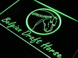 Belgian Draft Horse Neon Sign (LED)-Way Up Gifts