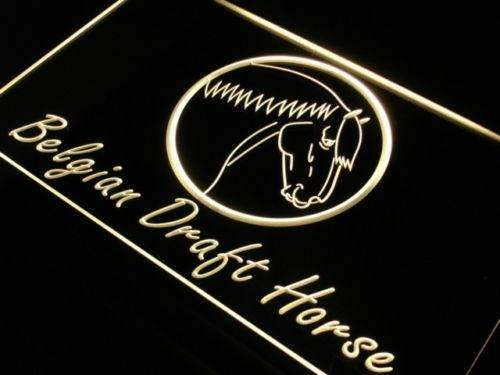 Belgian Draft Horse LED Neon Light Sign - Way Up Gifts