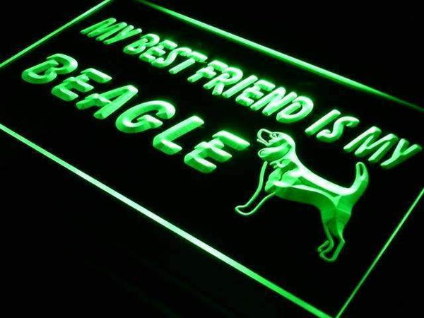 Best Friend Beagle LED Neon Light Sign - Way Up Gifts