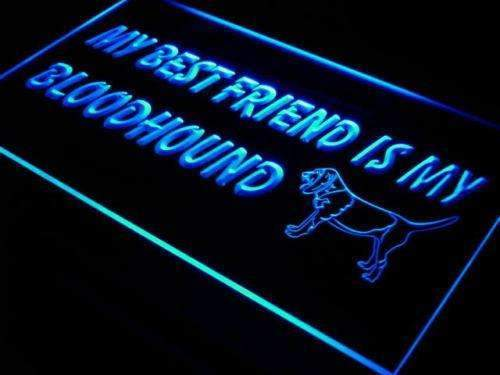 Best Friend Bloodhound LED Neon Light Sign - Way Up Gifts