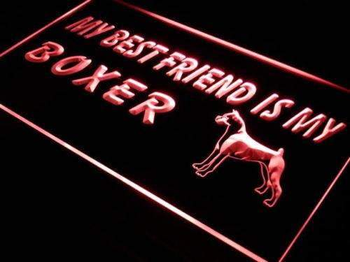 Best Friend Boxer Dog LED Neon Light Sign - Way Up Gifts