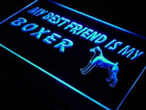 Best Friend Boxer Dog Neon Sign (LED)-Way Up Gifts