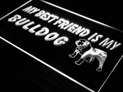 Best Friend Bulldog LED Neon Light Sign  Business > LED Signs > Dog Neon Signs - Way Up Gifts