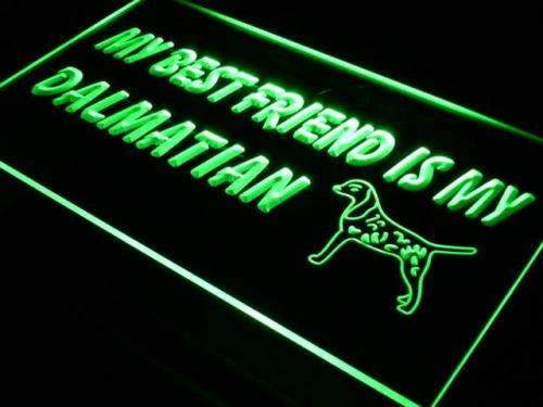 Best Friend Dalmatian LED Neon Light Sign  Business > LED Signs > Dog Neon Signs - Way Up Gifts