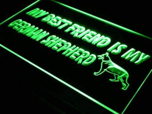 Best Friend German Shepherd LED Neon Light Sign  Business > LED Signs > Dog Neon Signs - Way Up Gifts