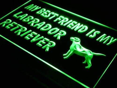 Best Friend Labrador Retriever LED Neon Light Sign - Way Up Gifts
