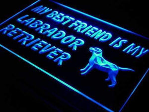 Best Friend Labrador Retriever Neon Sign (LED)-Way Up Gifts