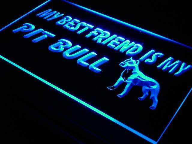 Best Friend Pit Bull LED Neon Light Sign - Way Up Gifts