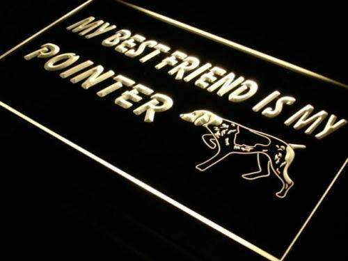 Best Friend Pointer Dog LED Neon Light Sign  Business > LED Signs > Dog Neon Signs - Way Up Gifts