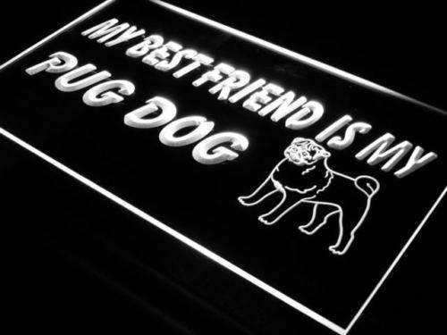 Best Friend Pug Dog LED Neon Light Sign - Way Up Gifts