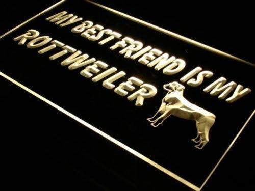 Best Friend Rottweiler LED Neon Light Sign  Business > LED Signs > Dog Neon Signs - Way Up Gifts