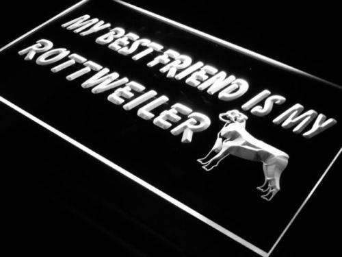 Best Friend Rottweiler LED Neon Light Sign - Way Up Gifts
