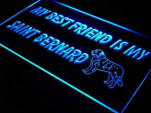 Best Friend Saint Bernard LED Neon Light Sign - Way Up Gifts