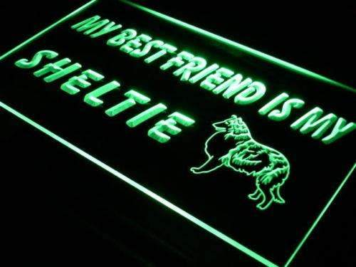 Best Friend Sheltie LED Neon Light Sign  Business > LED Signs > Dog Neon Signs - Way Up Gifts