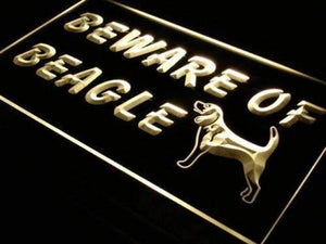 Beware of Beagle Neon Sign (LED)-Way Up Gifts