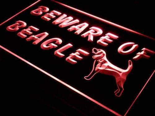 Beware of Beagle LED Neon Light Sign - Way Up Gifts