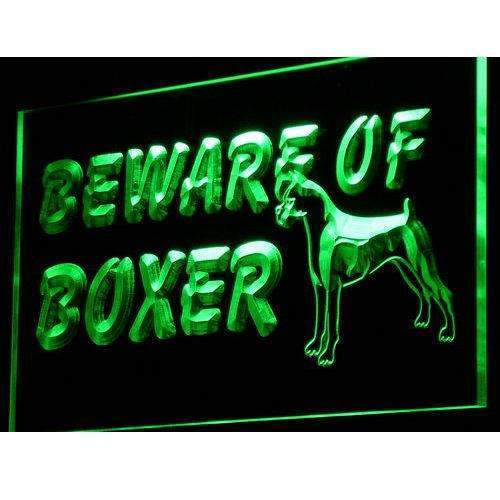 Beware of Boxer Dog LED Neon Light Sign - Way Up Gifts