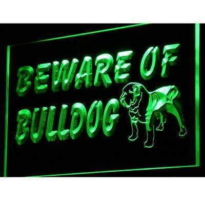 Beware of Bulldog LED Neon Light Sign - Way Up Gifts