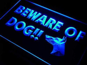 Beware of Dog Neon Sign (LED)-Way Up Gifts