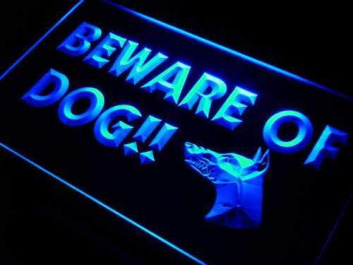 Beware of Dog LED Neon Light Sign - Way Up Gifts