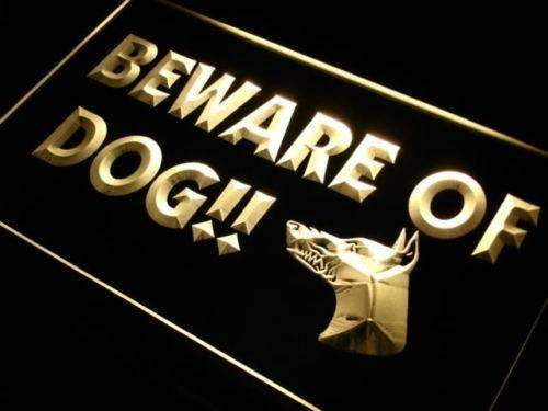 Beware of Dog LED Neon Light Sign  Business > LED Signs > Dog Neon Signs - Way Up Gifts