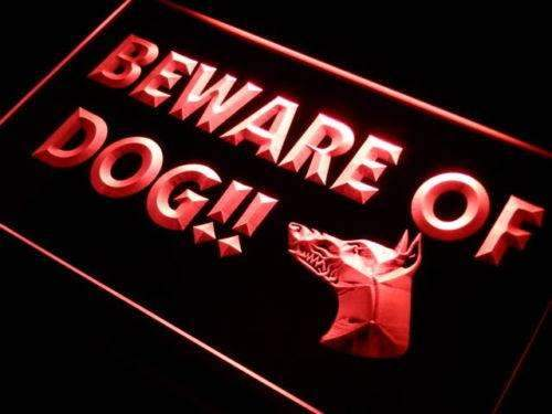 Beware of Dog Neon Sign (LED)
