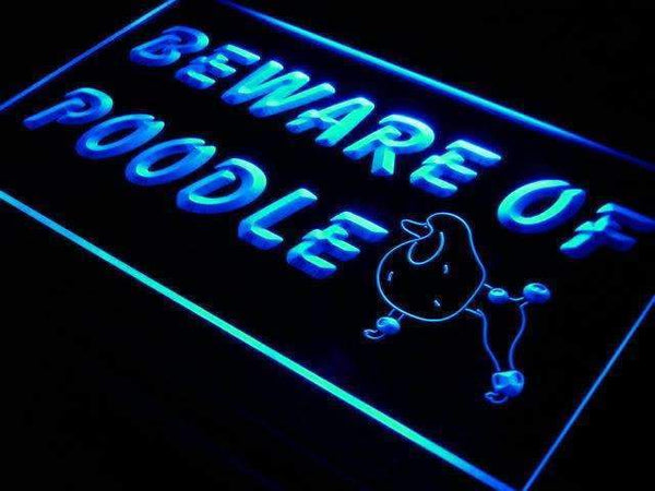 Beware of Poodle LED Neon Light Sign  Business > LED Signs > Dog Neon Signs - Way Up Gifts
