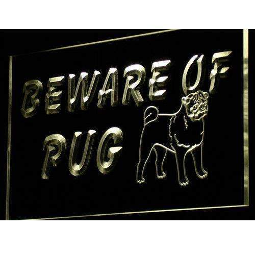 Beware of Pug LED Neon Light Sign  Business > LED Signs > Dog Neon Signs - Way Up Gifts