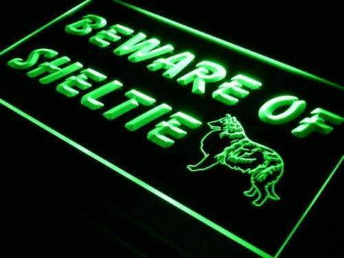Beware of Sheltie Shetland Sheepdog LED Neon Light Sign - Way Up Gifts