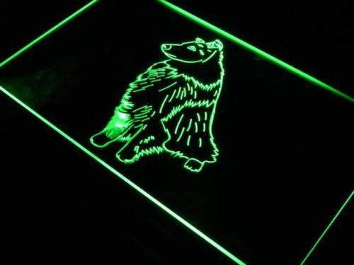 Bi Black Sheltie LED Neon Light Sign  Business > LED Signs > Dog Neon Signs - Way Up Gifts