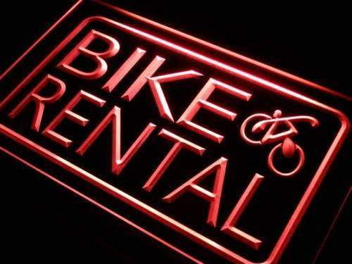 Bicycle Bike Rental LED Neon Light Sign - Way Up Gifts