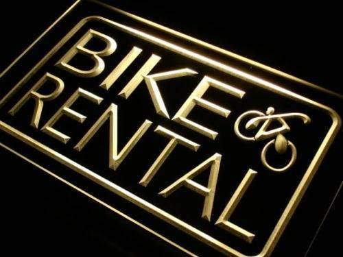 Bicycle Bike Rental Neon Sign (LED)-Way Up Gifts