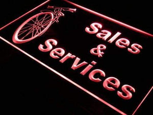 Bicycle Bike Shop Sales Services Neon Sign (LED)-Way Up Gifts