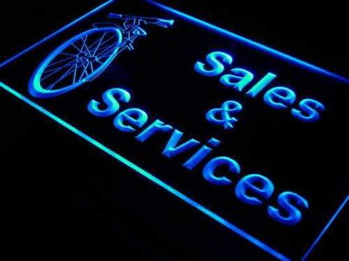 Bicycle Bike Shop Sales Services Neon Sign (LED)
