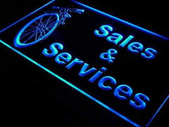Bicycle Bike Shop Sales Services LED Neon Light Sign
