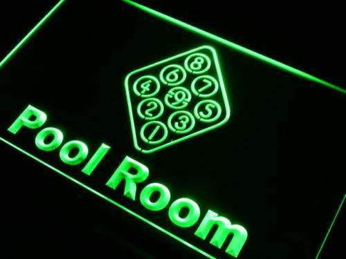 Billiards Pool Room LED Neon Light Sign  Business > LED Signs > Beer & Bar Neon Signs > Billiards & Pool Neon Signs - Way Up Gifts