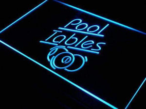 Billiards Pool Tables Neon Sign (LED)-Way Up Gifts
