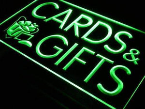 Birthday Cards Gift Shop Neon Sign (LED)-Way Up Gifts