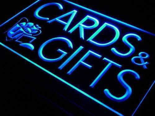 Birthday Cards Gift Shop Neon Sign (LED)