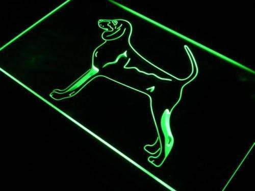 Black & Tan Coonhound Neon Sign (LED)-Way Up Gifts