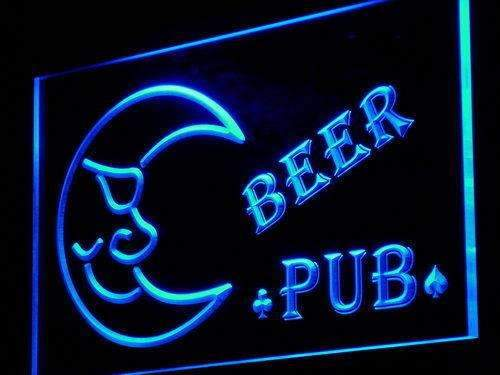 Blue Moon Beer Pub LED Neon Light Sign - Way Up Gifts