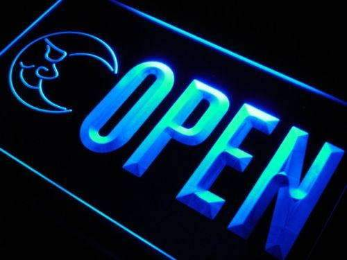 Blue Moon Open LED Neon Light Sign - Way Up Gifts