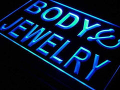 Body Jewelry Piercing LED Neon Light Sign