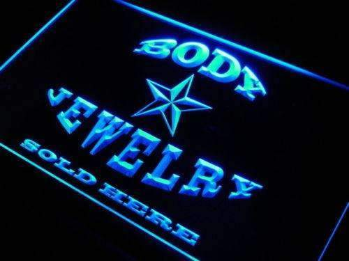Body Jewelry Sold Here LED Neon Light Sign - Way Up Gifts