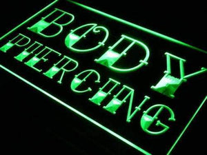 Body Piercing Neon Sign (LED)-Way Up Gifts